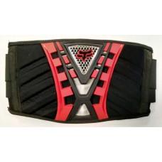 Защита торса (защитный пояс) FOX, цвет черный/красный №1