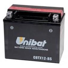 Аккумулятор UNIBAT YTX12-BS 12v 10 Ah