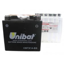 Аккумулятор UNIBAT YTX14-BS 12v 12 Ah