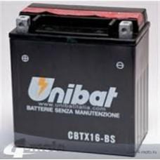 Аккумулятор UNIBAT YTX16-BS 12v 14 Ah