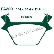 Тормозные колодки HD EBC FA200 GG (FXDL)