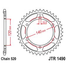Звезда задняя  JTR-1490.45 520