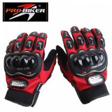 """Мотоперчатки с защитой текстильные """"PRO-BIKER"""" MCS-01C, красные"""