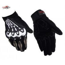 """Мотоперчатки с защитой текстильные """"PRO-BIKER"""" MCS-18, черно-белые"""