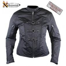Куртка женская Tri-Tex , с защитой (черная), с боковой шнуровкой