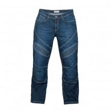 Мотоджинсы RUSH М402, цвет синий, со встроенной защитой колени+бедра