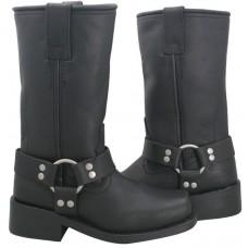 Мотоботы женские Ladies Classic Harness Boots XELEMENT, кожаные, черные