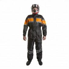 Дождевик PROUD TO RIDE (куртка+брюки), цвет черный/оранжевый