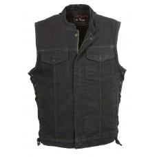 """Жилет мужской джинсовый, """"Club Vest"""" черный"""