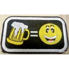 """Нашивка """"Пиво = смайлик"""""""