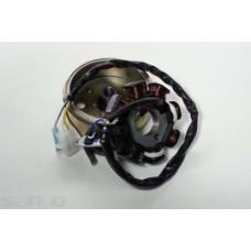 Магнето в сборе 139QMB 50cc 8 катушек (ротор+статор)