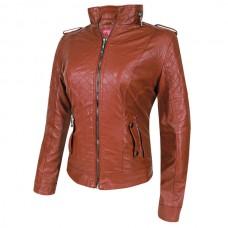 Куртка женcкая (Brown), искусственная кожа