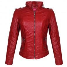 Куртка женская (Red), искусственная кожа