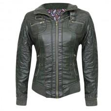 Куртка женская (CharCoal), искусственная кожа
