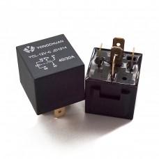 Реле силовое 12в 40А, 5 контактов (замкнуто-разомкнуто) + клеммник