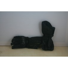 Перчатки ICON Motorsport черные, карбон, защита запястья