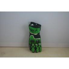 Перчатки BERIK Racing зеленые, карбон 100% кожа