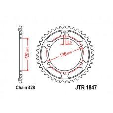 Звезда задняя JTR-1847.55 428