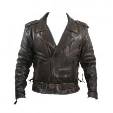 Косуха мужская, куртка ретро, коричневая