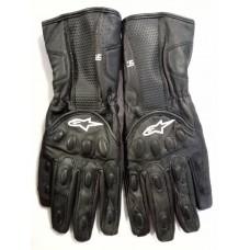 Перчатки Alpine Star черные с защитой (на липе)