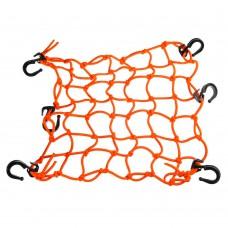 RW Сетка багажная оранжевая (пластиковые крючки) 40*40