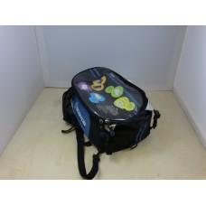 Сумка на бензобак-рюкзак SCOYCO черно-синяя, магнит+завяки