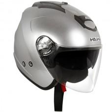 Шлем Опенфэйс Hawk AP-700-SILVER визор+выдвижные затемнённые очки.