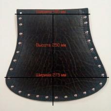 Брызговик на крыло кожаный, широкий 27,5 см.