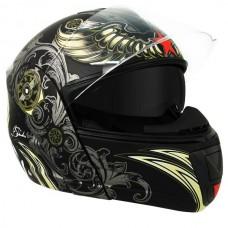 Шлем модуляр Hawk H-6615 Aviator Skull