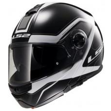 Шлем модуляр LS2 FF386 LS2 FF386 MERCURY BLACK WHITE