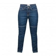 Мотоджинсы RUSH L101, цвет синий, со встроенной защитой колени+бедра, женские