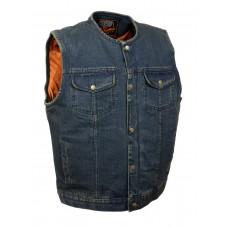 """Жилет мужской джинсовый, """"Club Vest"""" синий"""