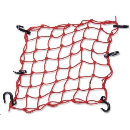 RW Сетка багажная красная (пластиковые крючки) 40*40