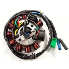 Статор генератора 152QMI, 157QMJ 125/150cc 11 катушек