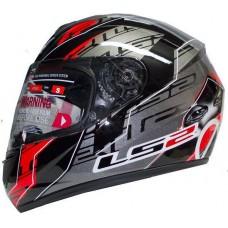 Шлем LS2 интеграл FF351 BL/RED Silver