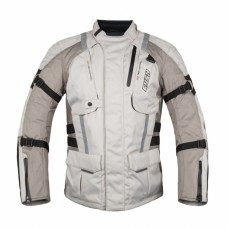 RUSH Мотокуртка мужская LONG RIDE, текстиль, серый/бежевый