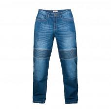 Мотоджинсы RUSH М403, цвет синий, со встроенной защитой колени+бедро
