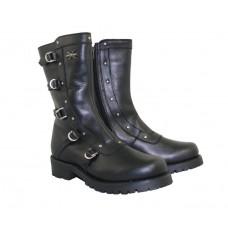 Мотоботы женские Black Siren Strap XELEMENT кожаные, черные