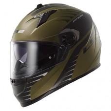 Шлем LS2 интеграл FF322 AIR FIGHTER GREEN