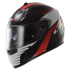 Шлем LS2 интеграл FF322 AIR FIGHTER BLACK RED