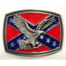 Пряжка Rebel Flag with Flying Eagle Belt Buckle