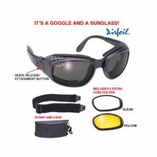 Очки Airfoil сменные линзы (3 варианта) 9100-BLK