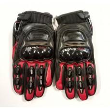"""Мотоперчатки с защитой текстиль, кожаные вставки """"PRO-BIKER"""" MCS-05, красные"""