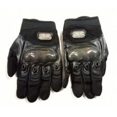 """Мотоперчатки с защитой текстиль, кожаные вставки """"PRO-BIKER"""" MCS-12, черные"""