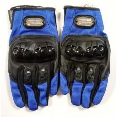 """Мотоперчатки с защитой, текстиль, стечатая ткань """"PRO-BIKER"""" MCS-24, синие"""