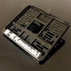 Рамка для номера мотоцикла нового образца (190*145) KAWASAKI