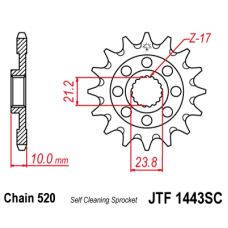 Звезда передняя JTF-1443.14SC 520