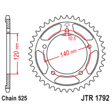 Звезда задняя  JTR-1792.43