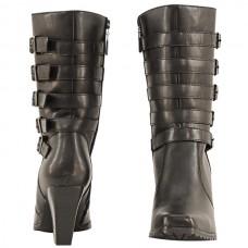 Мотоботы женские 5-Buckles Leather XELEMENT кожаные, черные