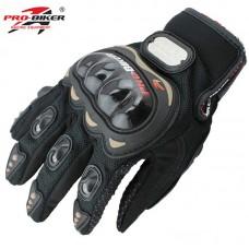 """Мотоперчатки с защитой текстильные """"PRO-BIKER"""" MCS-01С, черные"""